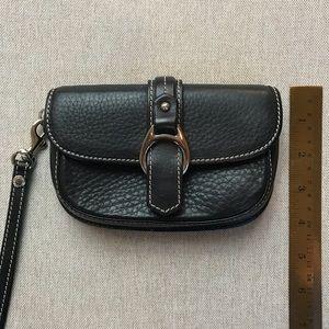 Authentic Dooney & Bourke leather wristlet